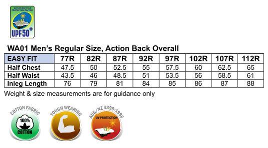 WA01 Men's Action Back Overall-Regular