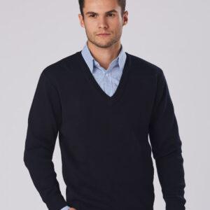 WJ01 Unisex Wool/ Acrylic V-Neck Jumper