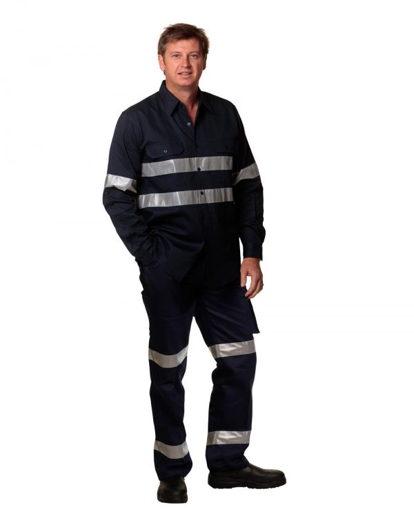 WP07HV PRE-SHRUNK DRILL PANTS WITH BIOMOTION 3M TAPES Regular Size 1     Promotion Wear