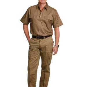 WP08 MEN'S HEAVY COTTON PRE-SHRUNK DRILL PANTS Stout Size 3     Promotion Wear