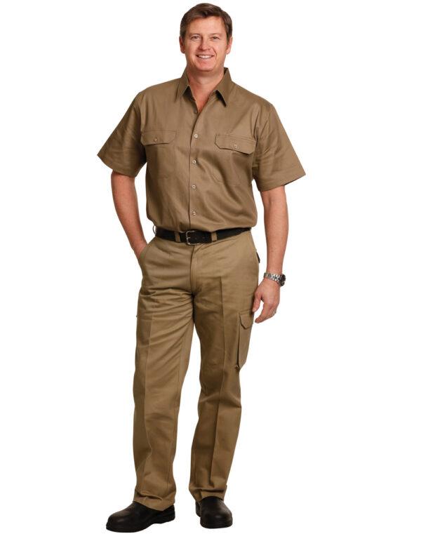 WP08 MEN'S HEAVY COTTON PRE-SHRUNK DRILL PANTS Stout Size 1     Promotion Wear