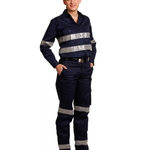 WP15HV LADIES' HEAVY COTTON DRILL CARGO PANTS WITH BIOMOTION 3M TAPES 5 | | Promotion Wear