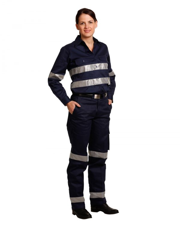WP15HV LADIES' HEAVY COTTON DRILL CARGO PANTS WITH BIOMOTION 3M TAPES 1     Promotion Wear