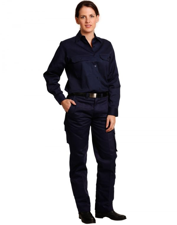 WP15 LADIES' HEAVY COTTON DRILL CARGO PANTS