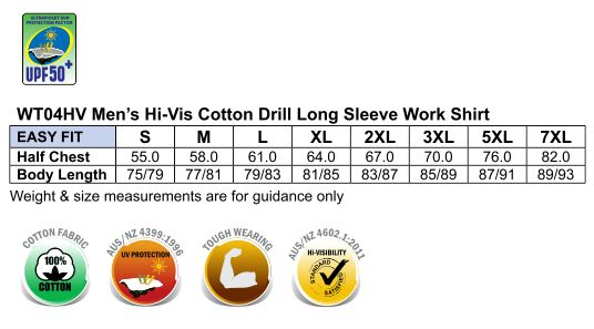 WT04HV COTTON DRILL WORK SHIRT