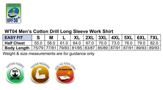WT04 COTTON DRILL WORK SHIRT