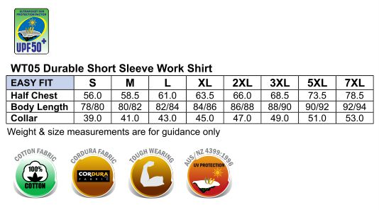 WT05 DURABLE SHORT SLEEVE WORK SHIRT