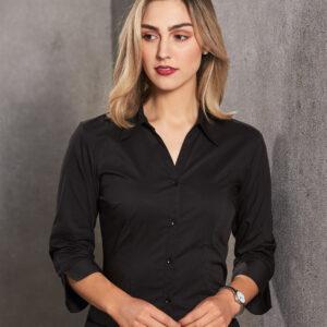BS07Q Women's Teflon Executive 3/4 Sleeve Shirt