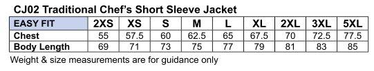 CJ02 CHEF'S SHORT SLEEVE JACKET