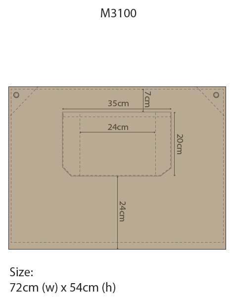 AP06(M3100) FITZROY HALF WAIST APRON