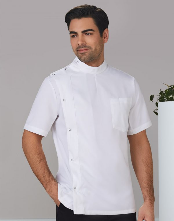 M7636 Men's Stud Front Short Sleeve Jacket