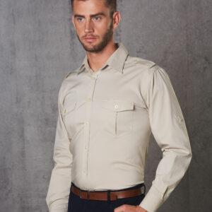 M7912 Men's Long Sleeve Military Shirt