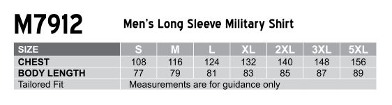 M7912 Men's Long Sleeve Military Shirt