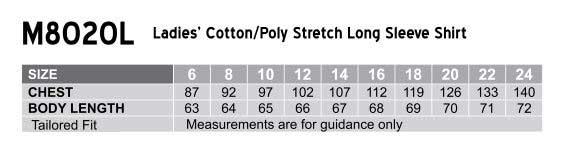 M8020L Women's Cotton/Poly Stretch Long Sleeve Shirt
