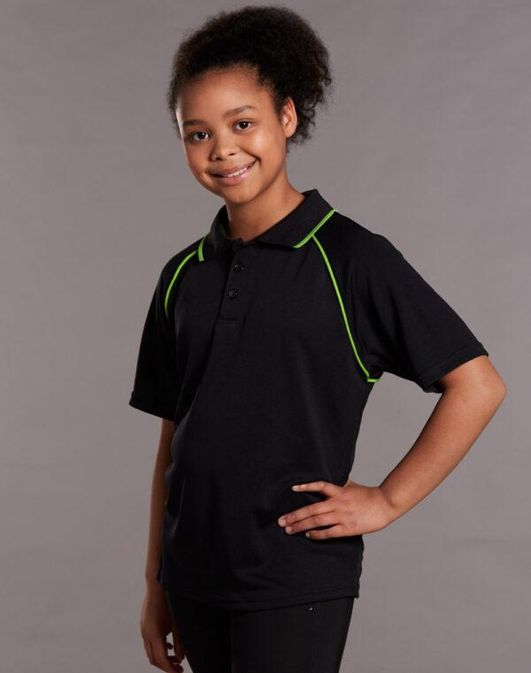 PS24 Kids CoolDry® Raglan Short Sleeve Contrast Polo
