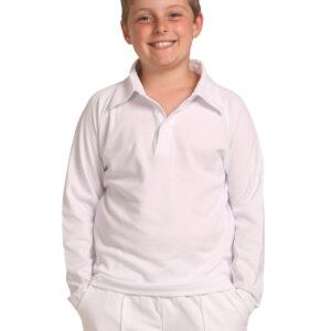 PS29KL Kids TrueDry® Mesh Knit Long Sleeve Cricket Polo