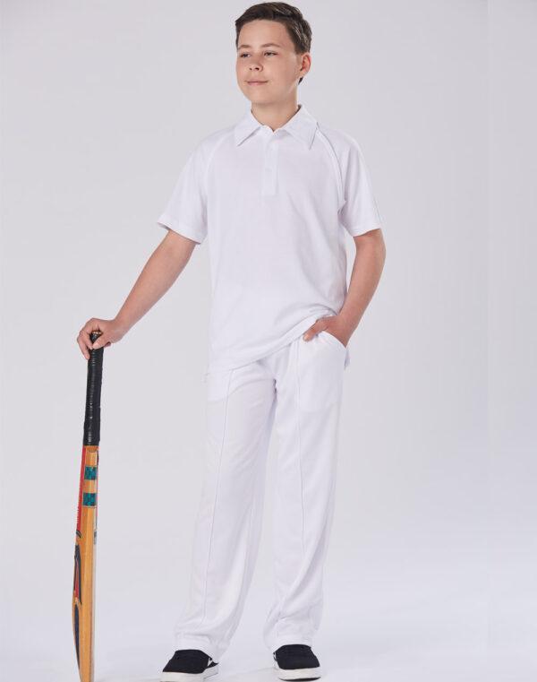PS29K Kids TrueDry® Mesh Knit Short Sleeve Cricket Polo