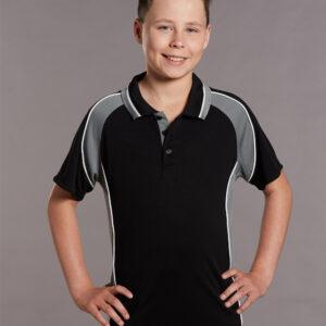 PS49K Kids CoolDry® Mini Waffle Short Sleeve Polo