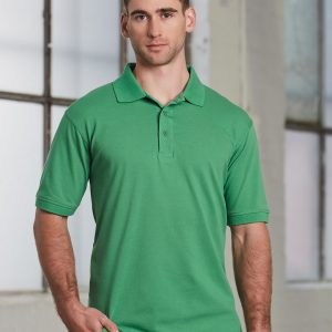 PS55 Mens Cotton Stretch Short Sleeve Polo