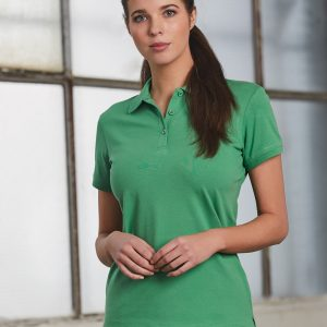 PS56 Ladies Cotton Stretch Short Sleeve Polo