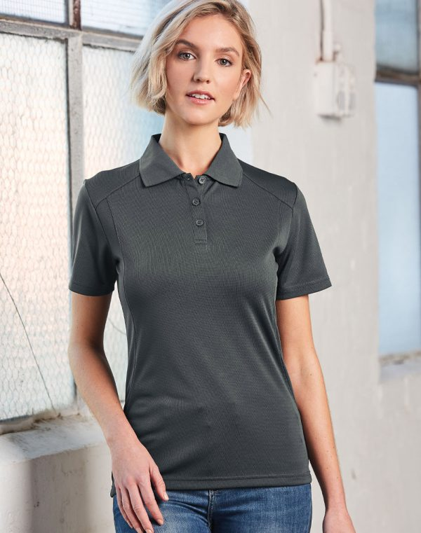 PS60 Ladies Bamboo Charcoal Eco Fabric Short Sleeve Polo