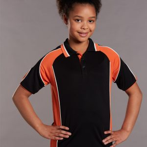 PS61K Kids CoolDry® Contrast Short Sleeve Polo with Sleeve Panels