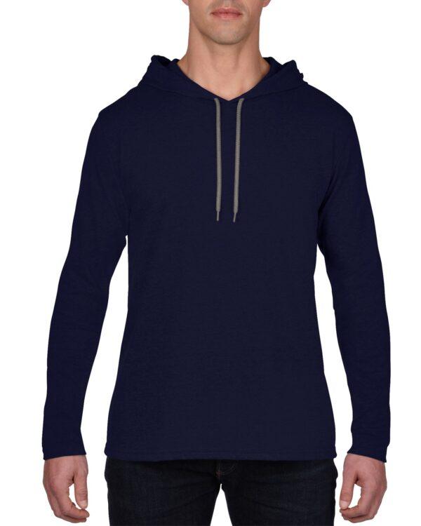 987 Adult Lightweight Long Sleeve Hooded Tee