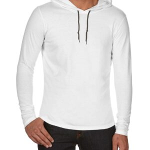 987 Adult Lightweight Long Sleeve Hooded Tee 1 | | Promotion Wear