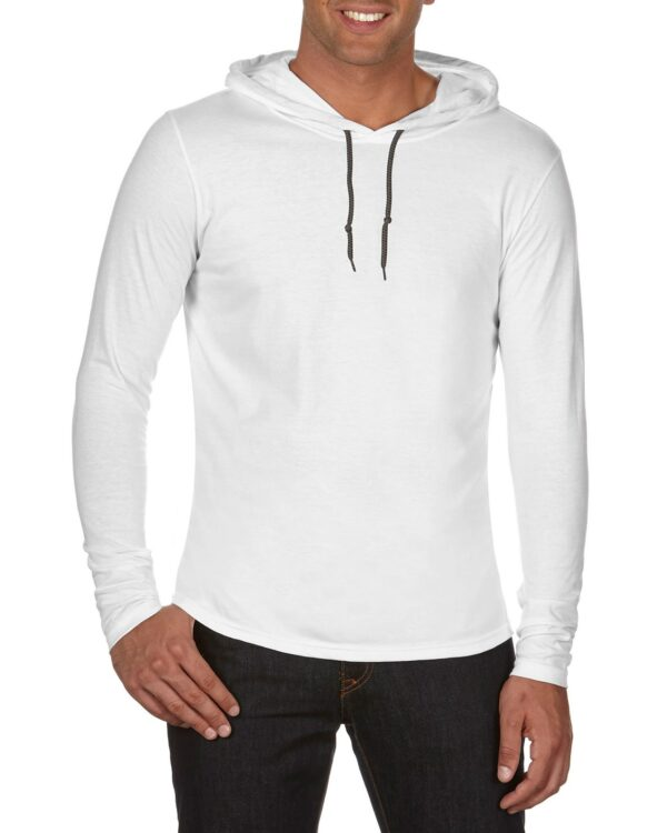 987 Adult Lightweight Long Sleeve Hooded Tee 1     Promotion Wear