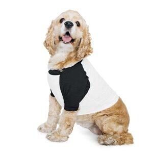 BB953W - Dog Poly-Cotton 3/4 Sleeve Raglan T
