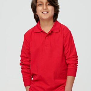 PS12K - KIDS TRADITIONAL POLY/COTTON PIQUE KNIT LONG SLEEVE POLO