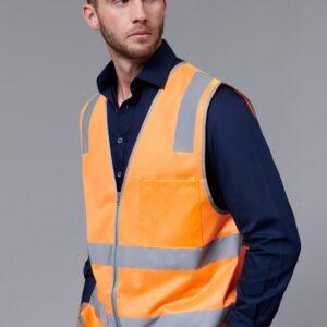 SW40 - Unisex Hi-Vis Safety Vest With Reflective Tapes
